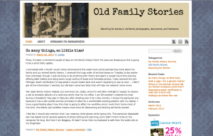 screenshot of blog design from 12 April 2012