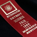Metropolitan Detroit Science Fair ribbon 1968 - honorable mention