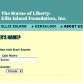 Searching for Caroline Richter on Ellis Island website