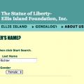 Searching for Caroline Richter on Ellis Island website